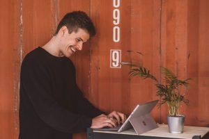 Fabian laughing