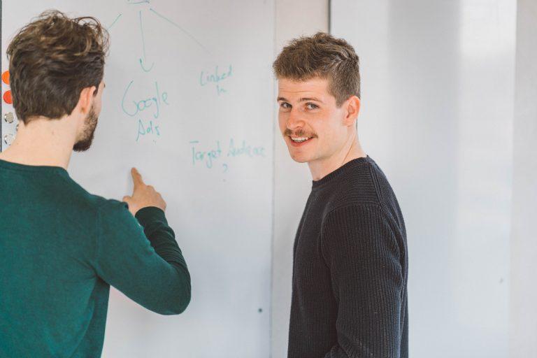 Fabian on the whiteboard